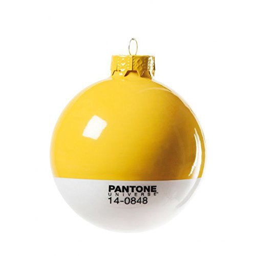 Seletti '' Glaskugel christmas-pantone ® 7406Ø cm. 8–Gelb