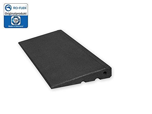 Türschwellenrampe Excellent 500/45 mm hoch aus Gummigranulat hochverdichtet (schwarz)