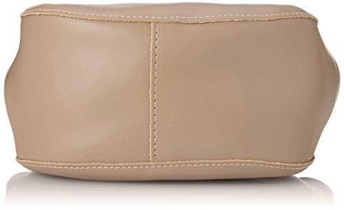 CTM Borsa a mano da Donna, Borsetta con tracolla interna regolabile, vera pelle made in Italy - 22x25x10 Cm Rosa