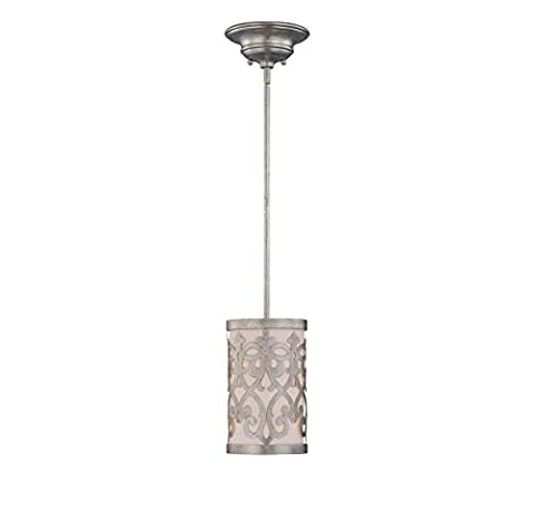 Savoy House 7-1443-1-211 Mini Pendant with White Opal Shades, Argentum Finish by Savoy House