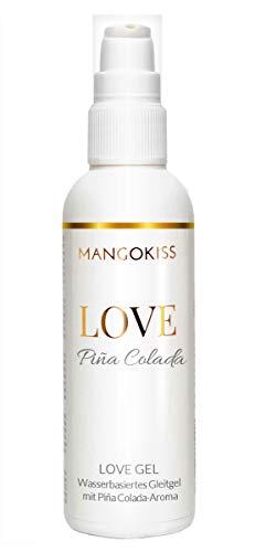 MangoKiss LOVE PINA COLADA - Essbares Gleitgel mit Piñacolada Likör Geschmack - Veganes Gleitmittel auf Wasserbasis - kondomgeeignet, Oralverkehr, Sex