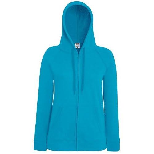 FRUIT OF THE LOOM Lady-Fit Lightweight Hooded Casual Wear Sweatshirt Jacket