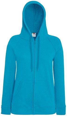 Fruit of the loom léger pour femme-coupe avec capuche et loisirs habillement sweat-shirt Bleu - Azurblau Blau