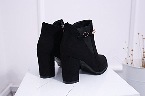 6699a80891b62e ... Jazs® Bottines Automne-hiver Bottines Pour Femmes Chaussures Pointues  Talon À Talon Aiguille Avec ...