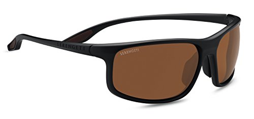 Serengeti Eyewear Erwachsene Levanzo Sonnenbrille, Sanded Dark Root Beer, Medium/Large