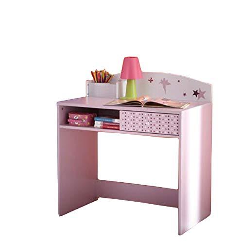 Schreibtisch Sternchen lila / weiß Holz Mädchen Computertisch Kinderschreibtisch Jugendschreibtisch Bürotisch Kinderzimmer Jugendzimmer
