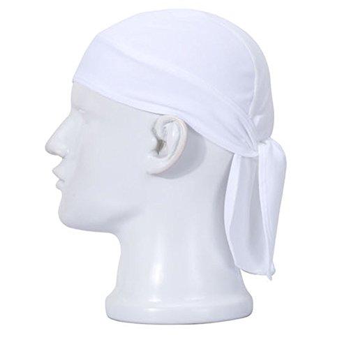 aiyuda Mehrzweck Quick Dry atmungsaktiv Schweißband Head Packungen Radfahren Running Cap Pirat Hat Einheitsgröße Weiß - (Pirat Turban)