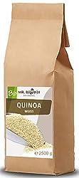 Mr. Brown BIO Quinoa weiß 2,5 KG | BIO Quinoa 2500g | 2,5 kg | aus kontrolliert biologischem Anbau | abgefüllt in Bayern