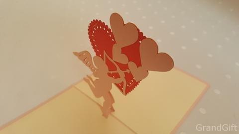 Amor 3D Pop up Grußkarten Jahrestag Baby Geburtstag Ostern Halloween Mutter Vater New Home NEW YEAR Thanksgiving Valentine Hochzeit Weihnachten