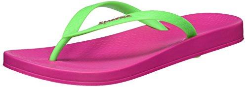 Ipanema Damen Anatomic Tan Fem Zehentrenner, Mehrfarbig (Pink/Green), 43 EU (Green Flip Flops Sandalen)