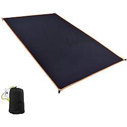 GEERTOP Schutzplane Zeltplanen Zeltunterlage Wasserdicht 3 Personen - 210 x 180 cm (300g) - 20D Ultraleichte Wasserdichte Für Zelt Wanderungen Camping Picknick