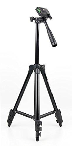 DURAGADGET Trípode extensible para cámara de vídeo Sony Handycam HDR-MV1 | HDR-AS50B | HDR-CX240E | HDR-CX625B | HDR-PJ410 | FDR-AX53 Con nivel de burbuja Peso máximo 2 Kg. Incluye funda protectora