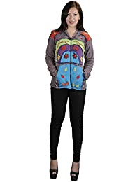 Mesdames multicolores Cardigans avec broderie florale et poches latérales