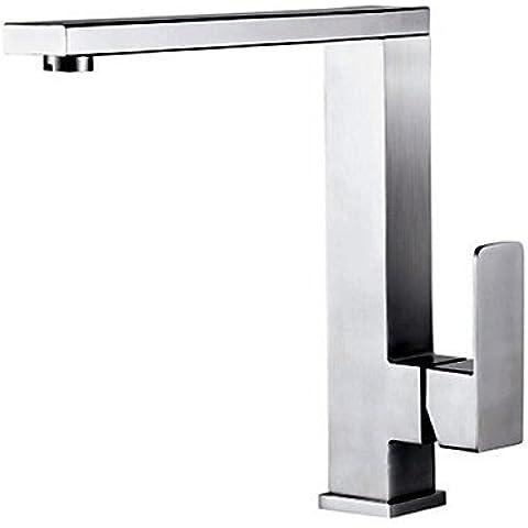 XMQC*Montato sulla testata falciante singola maniglia un foro in Acciaio Inox rubinetto di cucina