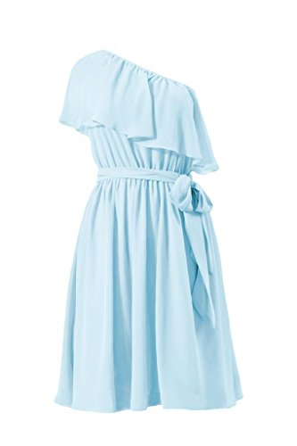 daisyformals une sangle Party Demoiselle d'Honneur robe vintage robe asymétrique (bm1362) Bleu - #40-Ice Blue