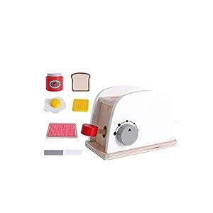 TrifyCore Brot-Maschine Spielzeug aus Holz Mini Simulations-Brot-Maschine spielt Küchenzubehör für Kleinkinder Kostüm Rollenspiele Schule Klassenzimmer pädagogisches Spielzeug 1Set