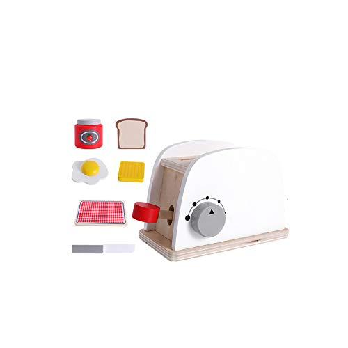 Weihnachten Für Spielt Kostüm - TrifyCore Brot-Maschine Spielzeug aus Holz Mini Simulations-Brot-Maschine spielt Küchenzubehör für Kleinkinder Kostüm Rollenspiele Schule Klassenzimmer pädagogisches Spielzeug 1Set