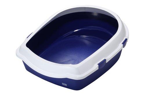 Europet-Bernina 441-130896Gatto Toilette con Bordo Jumbo, 56x 70x 27cm, Colore Blu