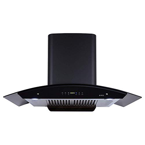 Elica 90 cm 1200 m3/hr Auto Clean Chimney (WD HAC Touch BF 90 MS, 2 Baffle Filters, Touch + Motion Sensor Control, Black)