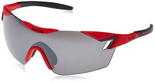 bollé 6Th Sense sonnenbrille, rot - Rouge Mat/Noir, Taille M-L