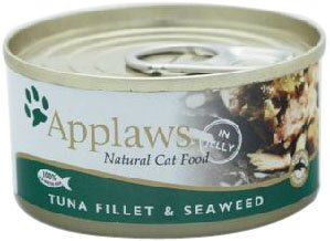 Applaws Cat Food Tin Tuna and Seaweed, 70g, Pack of 24