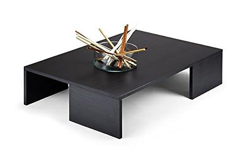 mobilifiver Rachel Pine Coffee Table, Wood, black, 90x 60x 21cm