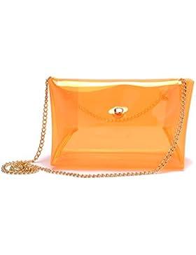 zarapack Frauen 'S Multi Farbe Hologramm transparent Messenger Bag Handtasche Schulter Tasche