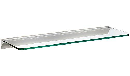 Glasregal / Wandregal ROUND+RAIL | 60x20 cm - klar/silber