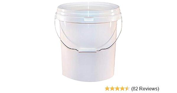 Martin Cox MOGG105 20L White Detaling Valeters Bucket 20 Litre Pail /& Lid
