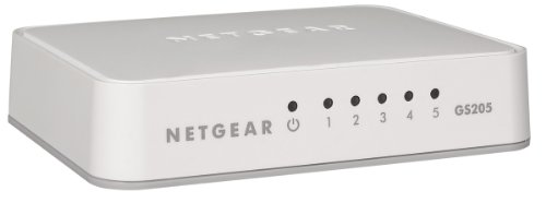 Modem-ethernet-port Splitter (NETGEAR GS205-100PES Gigabit Unmanaged Switch (5-Port))