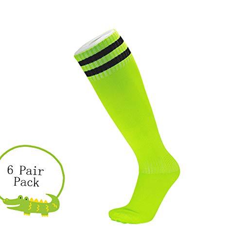 Morbuy Sportsocken Herren 39-46, Fußball Deodorant Atmungsaktive 6er-Pack 6 Paar Bunt Herren Socken. (Hellgrün)