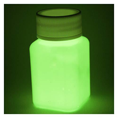 lumentics Premium Leuchtfarbe - Im Dunkeln leuchtende Farbe, Helle Nachleuchtfarbe, Selbstleuchtende Wandfarbe, UV Glühfarbe, Night-Glow (Gelb)