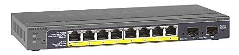 NETGEAR GS110TP-200EUS ProSAFE (8-Port Gigabit POE Smart Managed Switch mit 2 Gigabit Fibre SFP)