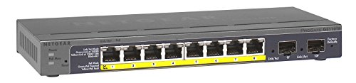NETGEAR GS110TP-200EUS ProSAFE (8-Port Gigabit POE Smart Managed Switch mit 2 Gigabit Fibre SFP) Netgear Poe-switch Sfp