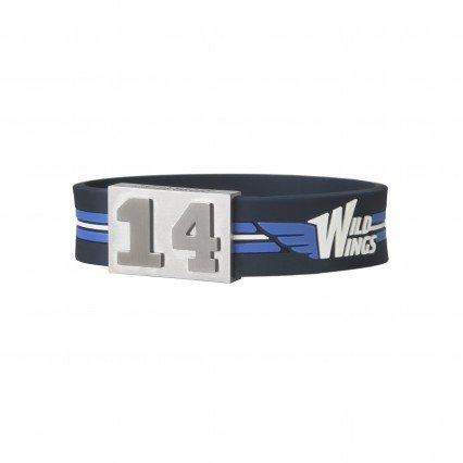 BRAYCE® Schwenninger Wild Wings-Armband mit Deiner Nummer 00-99 (Trikotnummer, Spielernummer, Glückszahl): Der Schmuck im Eishockey Style für Damen und Herren (Fanartikel)
