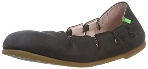 El Naturalista Antique N961 Damen Ballerinas Schwarz (Black)