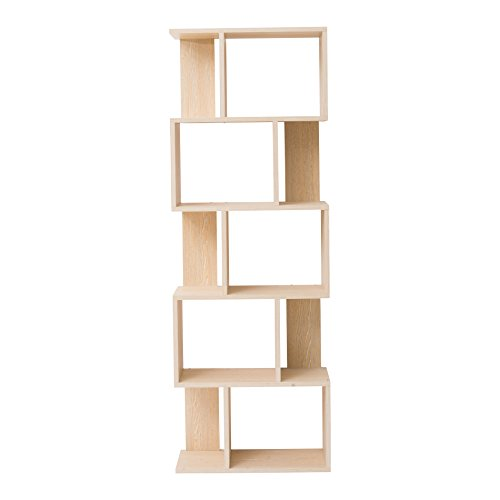 mobili rebecca bibliotheque etagere de rangement 5etag res bois brun clair design urban chambre. Black Bedroom Furniture Sets. Home Design Ideas