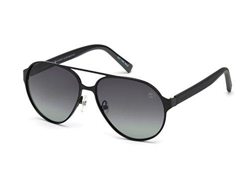 Timberland Unisex-Erwachsene Brillengestelle TB9145 02D 57, Schwarz (Nero Opaco\\Fumo Polar)