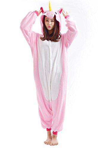 SAMGU Einhorn Kigurumi Erwachsene Anime Cosplay Adult Tier Onesie Pyjama Schlafanzug Unisex Größe S