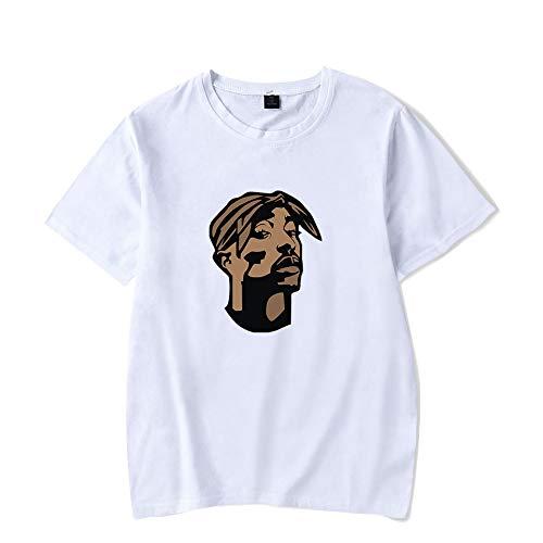 INSTO T-Shirt König Von Rap 2Pac Gedruckt Unterhemd Fitness Tragen Unisex Tragen Gemütlich/Weiß/XS