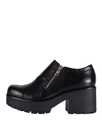 Vagabond Dioon Zip Shoes Black - Scarpe In Pelle Nere Con Cerniera Black
