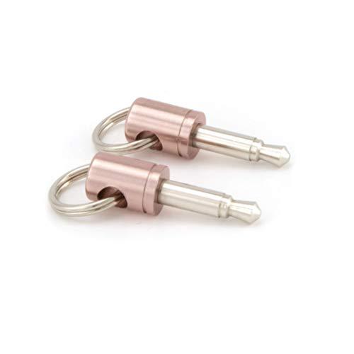 Dongle Dangler Schlüsselanhänger-end Apple Lightning zu 3,5mm Kopfhöreranschluss Adapter-Schlüsselanhänger kompatibel mit Kabel für iPhone 7, 7Discern out out off, iPhone 8, 8Pick up, iPhone X, Google Pixel 2 2-Pack rose gold