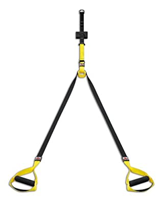 body coach Power Sling Total Suspension Trainer Nylon Mit Dvd, gelb/schwarz, 16250