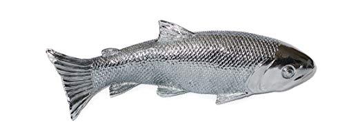 Objet décoratif mural en forme de poisson Argent, Résine, 28 x 8,8 cm