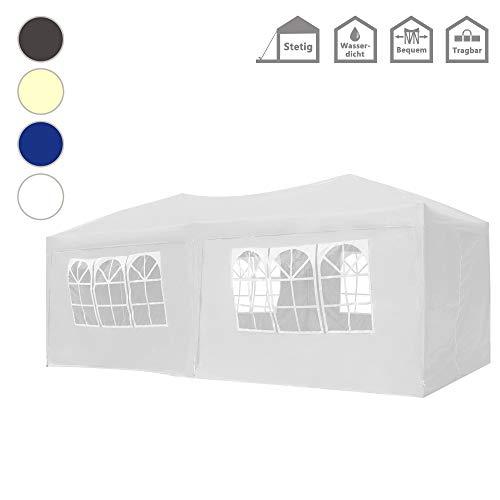 FROADP Faltpavillon 3x6m mit 6 Seitenteilen - Partyzelt Pavillon UV-Schutz - für...