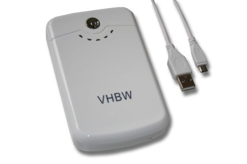 vhbw Powerbank mobiles Ladegerät Ladekabel Micro-USB Akku 10400mAh weiß für Apple i-Phone iPhone 2G 3G 3Gs 4 4s 5 iPod touch iPad 1 2 3 4 mini etc.