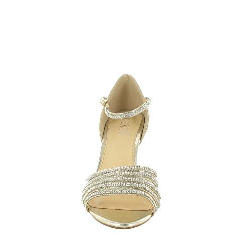 LEXUS , Bride de cheville femme Or - GOLD P.U