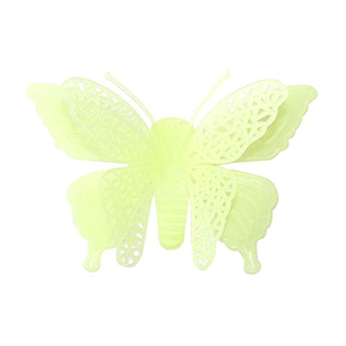 wassaw Leuchtende Schmetterlinge Haut Wandaufkleber Für Kinderzimmer Dekorative Glow In The Dark Kunst Wandaufkleber Wohnkultur Wohnzimmer 6 Stücke C (Glow In The Dark Ideen Dekorationen)