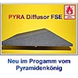 Akustik - Diffusor, ca. 59x59x12cm, Anthrazit Schwarz, FSE (flammhemmend nach MVSS302), Akustikschaumstoff