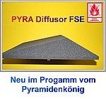 Acústica–Difusor, aprox. 59x 59x 12cm, Antracita Negro, FSE (ignífuga según mvss302), espuma acústica